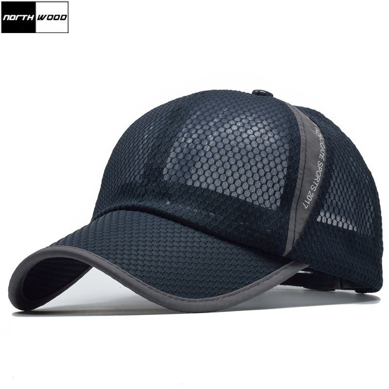 Summer Cap Fitted-Cap Sun-Baseball-Cap NORTHWOOD Mesh Women for Gorras Casquette Fashion