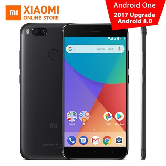Глобальная версия Сяо Mi Ми A1 MiA1 мобильный телефон 4 ГБ 64 ГБ Snapdragon 625 Octa core 12.0MP + 12.0MP двойной Камера Android один ce fcc