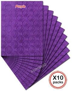 10 упаковок, однотонный фиолетовый головной убор SEGO в африканском стиле, головной платок с гелевой головкой, Королевский головной платок для...
