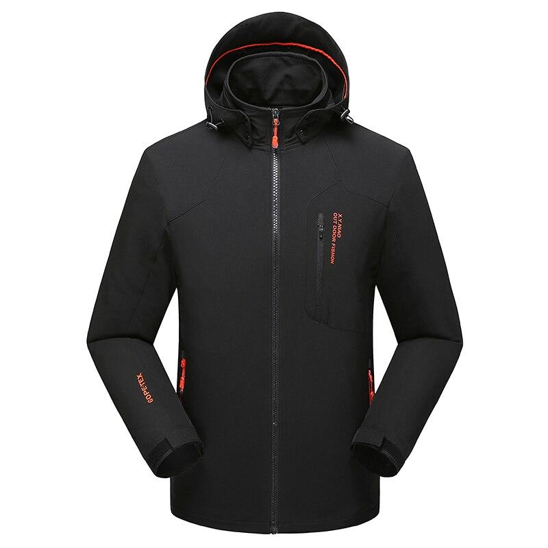 Hommes grande taille 4XL 5XL 6XL 7XL 8XL Softshell veste imperméable Windstopper à capuche randonnée manteau alpinisme Trekking vestes
