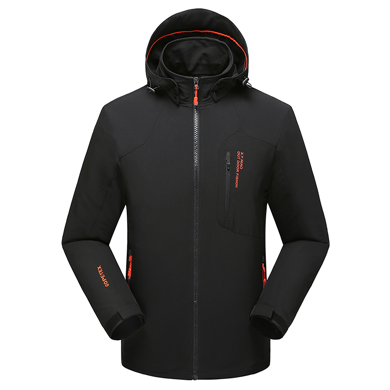 Men Plus Size 4XL 5XL 6XL 7XL 8XL Softshell Jacket Waterproof Windstopper Hoodie Hiking Coat Mountaineering Trekking Jackets