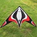 Envío Libre 2015 Nuevo Anuncio Outdoor Fun Sports 1.8 m Energía Del Truco Kite Flying Buena Con la Manija Y la Línea