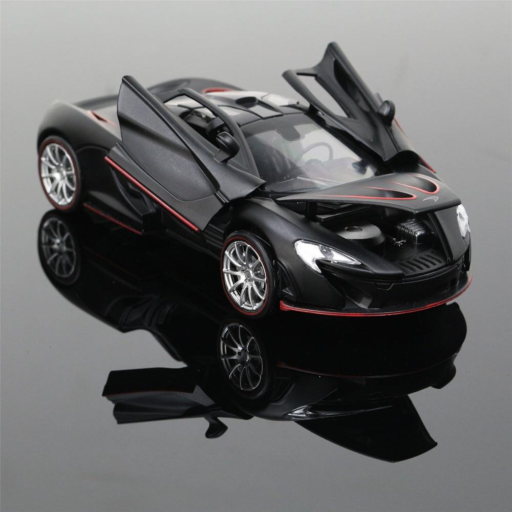 1:32 Collectible Car Models Yellow McLaren P1 Alloy Diecast