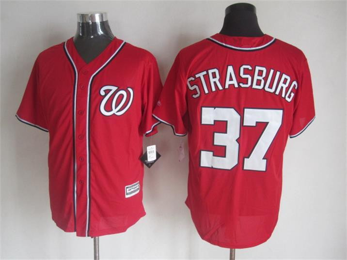2015 Cheap Washington baseball jerseys 37 Stephen Strasburg Blue white stitched jersey - Sale, Top Shop store
