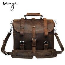 Leather Bag Leather Bag Men Cool Crazy Horse Men Shoulder Messenger Bag