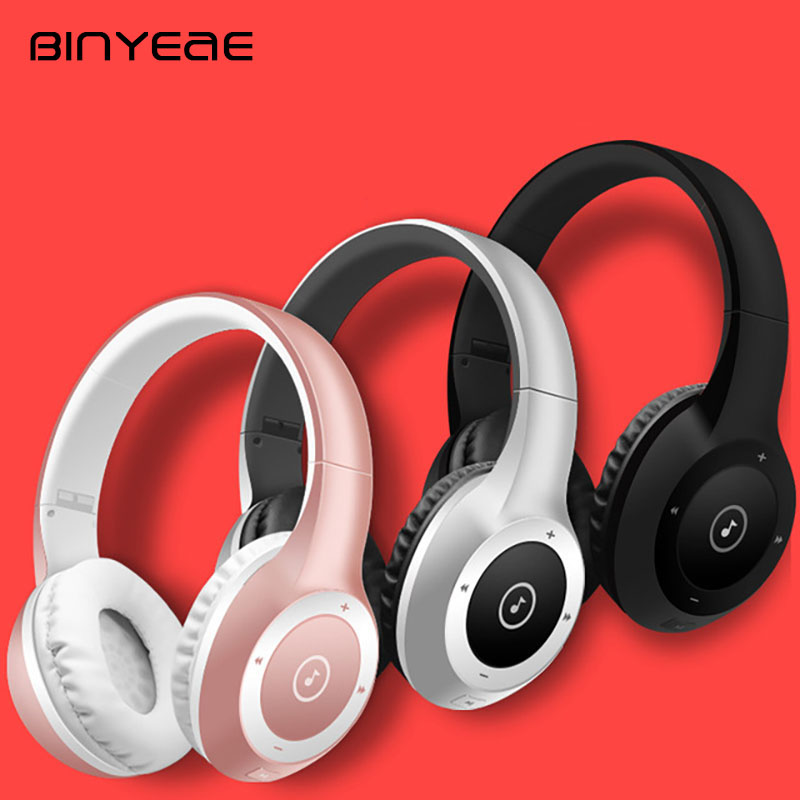 BINYEAE Stereo Headphone Bluetooth Earphone HIFI Sport MP3 Card Wireless Mobile Phone Headset with Mic for PC Mobile Phone Mp3 new 2016 original linx lx bl11 bluetooth wireless earphone headphone for mobile phone headset headphone free shipping