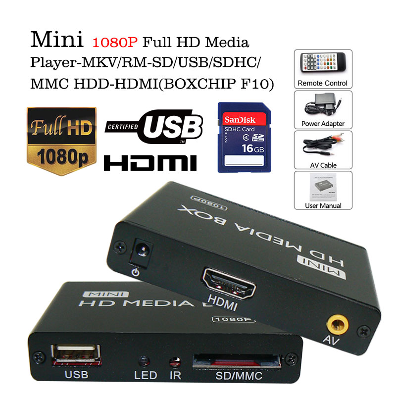 3d 1080p hd media center player usb2.0 mkv h.264