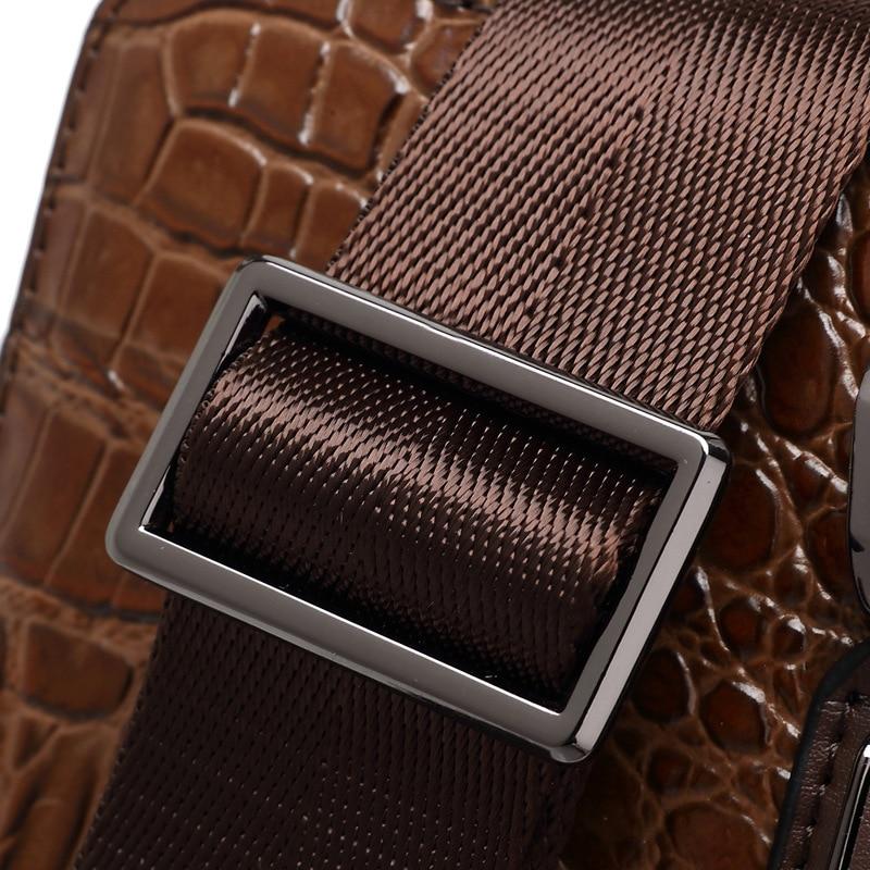 À Nouveau Relief Main De documents Black Crocodile En Sac Marée Couche Tête Hommes Peau D'ordinateur Cuir brown Porte D'affaires Mode Vache Motif xzvwz8