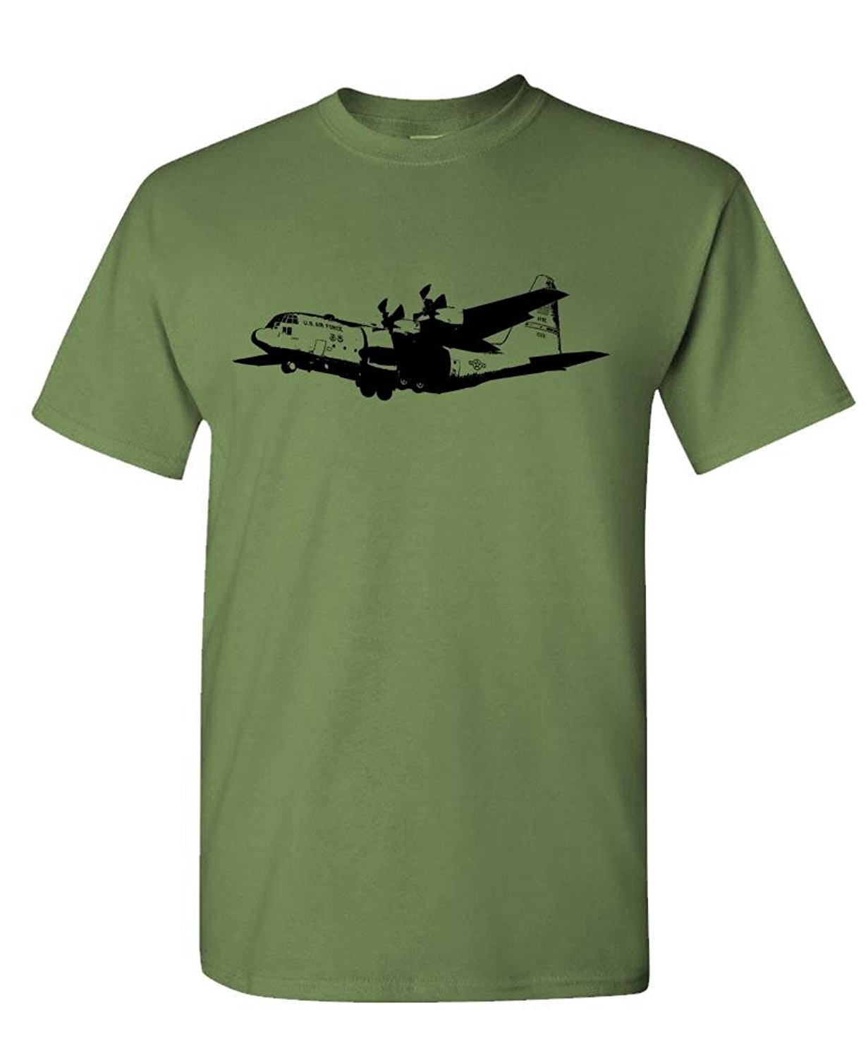 T-Shirt Male Hipster Tops Print Tshirt Summer ShortUnisex More Size And Colors - C-130 CARGO PLANE - Mens Cotton T-Shirt