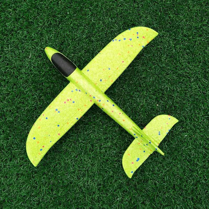 Дети ручной бросок Летающий планер самолеты пенопластовый самолет модель наружные игрушки для детей Мальчики Самолет EPP устойчивый прорыв самолет - Цвет: Not Lamp Green 35cm