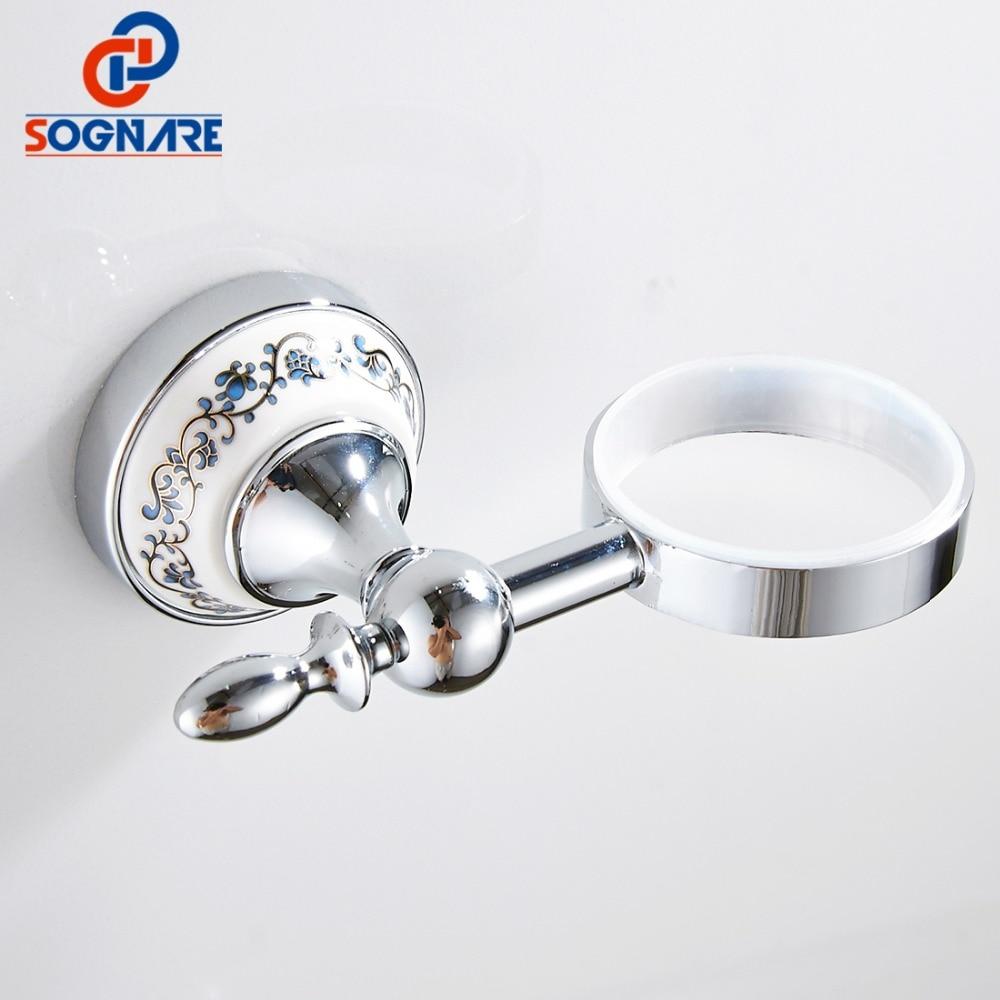 SOGNARE Luxury Ceramic Base Wall Mounted Soap Dish Soap Holder Box ...