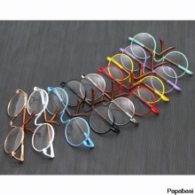1glasses+1box 1/6 Cute Round Frame Clear Lens Glasses Eyewea