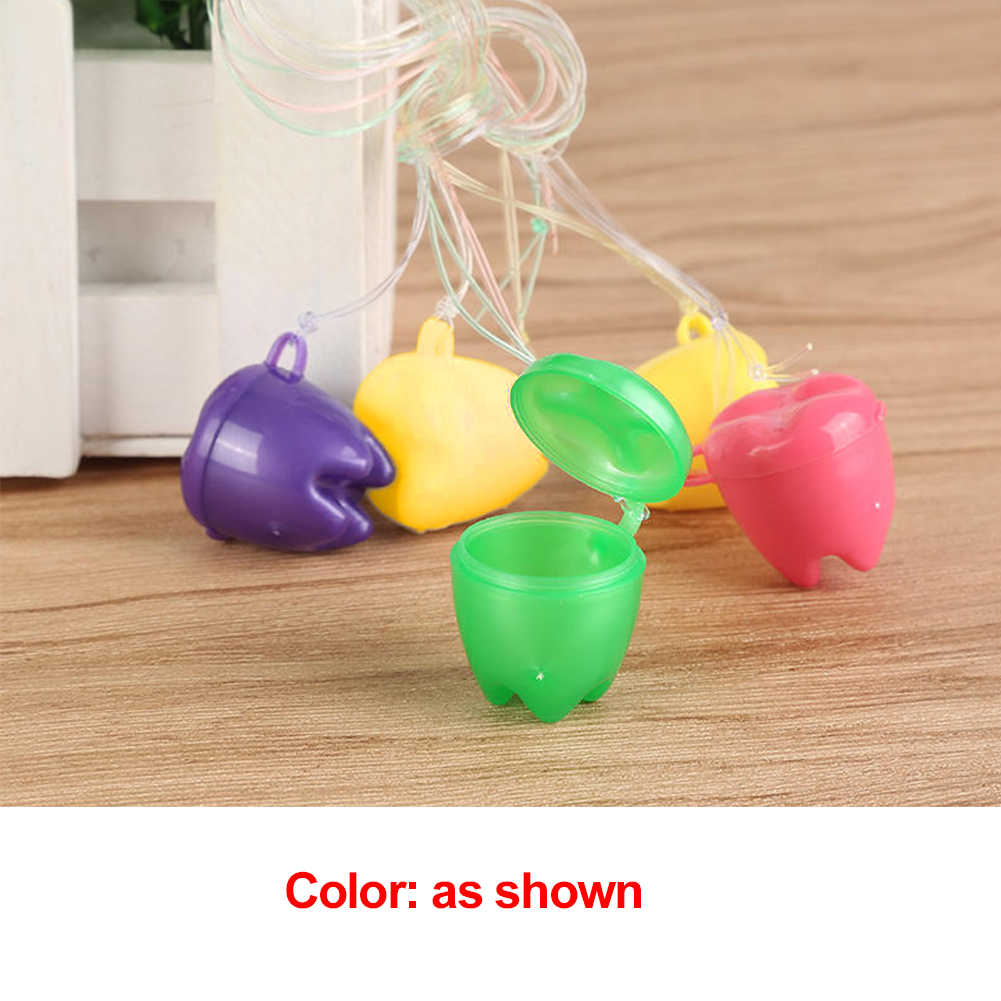 4 pcs Multicolor เด็กฟันผลัดใบบรรจุทันตกรรมนมฟันกล่องคลินิกทันตกรรมขนาดเล็กของขวัญเด็กฟัน #0807