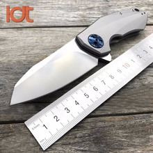 LDT ZT0456 Folding Knife CTS 204P Blade TC4 Titanium Handle Military Hunting Knives Survivval Camping Pocket Outdoor Knife Tool