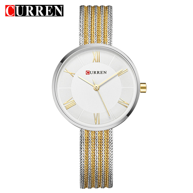 CURREN Hot Fashion Creative Women Bracelet Watches Dress Ladies Wristwatch Casua