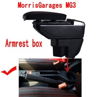 For MG MG3 armrest box central Store content box with cup holder ashtray USB MG3 armrests box
