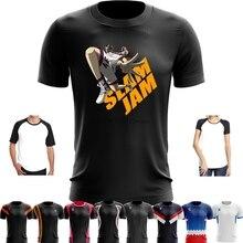 Esporte Quick Dry Correndo Camiseta Homens Impresso T Camisa de Treinamento  de Futebol Basquete CHARLOTTE CHARLES ea4e43fb1