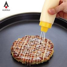 Wulekue Seasoning Bottle For Sauce Salad Ketchup Vinegar Honey Kitchen Tools With Cover