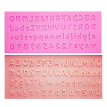 M0726 Alphabet&Number Cake Silicone Mold Letters Fondant Mold Cake Tools Chocolate Mold цены
