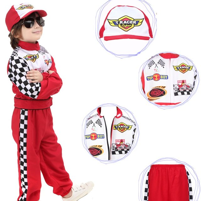 New Style Stage Costumes Childrenu0027s Halloween Cosplay Wear The Red Race Car Driver Uniform Masquerade Costume Cloth  sc 1 st  Aliexpress & Online Shop New Style Stage Costumes Childrenu0027s Halloween Cosplay ...