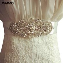 Luxury Women Belts Handmade Rhinestones Sash Evening Party Prom Dresses Waistband Wedding Belt Sashes Brand Cummerbunds