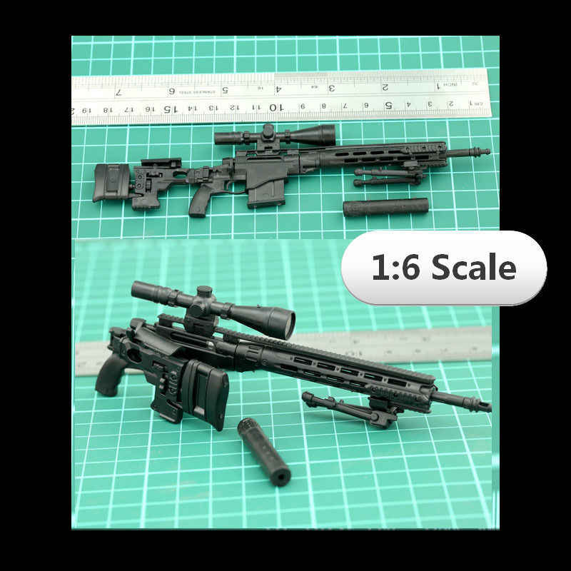 1:6 1/6 skala MK14 Action Figures 12 calowe akcesoria MSR karabin snajperski zabawki 1/100 MG Bandai Gundam akcesoria modele na prezent