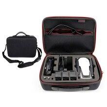 Mavic 공기 방수 가방 핸드백 휴대용 케이스 pu 탄소 피부 저장 상자 어깨 가방 dji mavic 공기