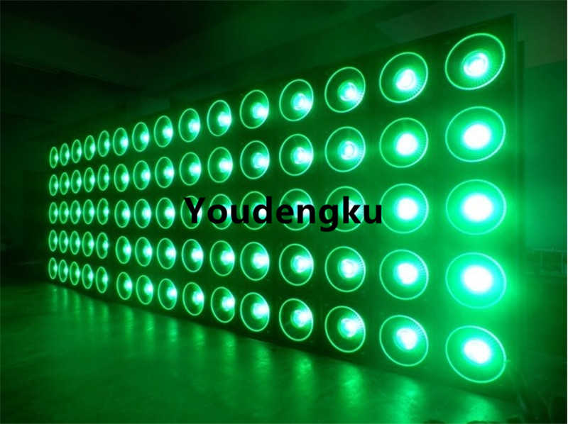 professional DMX512 Control 5x5 DMX Led Audience Blinder Matrix Panel beam 25x10W rgbw 4 in 1 LED Matrix blinder light