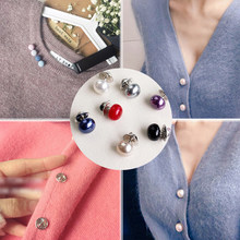 Hot Sale 1 PC Imitasi Pearl Lingkaran Bros Pu Tombol Wanita Zirkon Fashion Bros Berwarna-warni(China)
