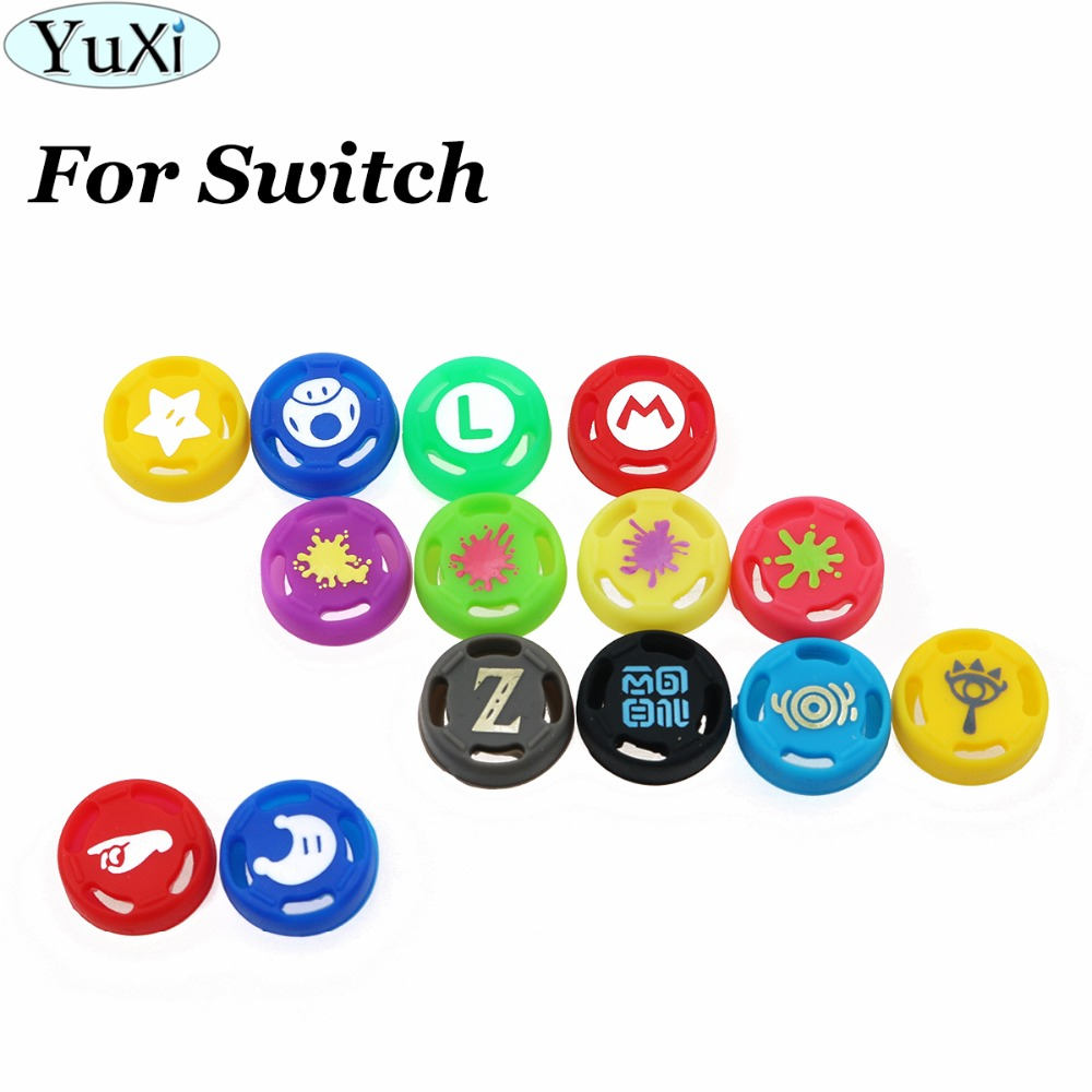 YuXi 2pcs 14color For Joy Con Silicone Joystick Thumb Grip Cover Case Analog Caps For Nintend Switch NS Joy-Con Controller