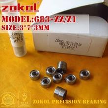 ZOKOL 683 ZZ 683zz подшипник 683 Z Z1 миниатюрный глубокий шаровой подшипник 3*7*3 мм