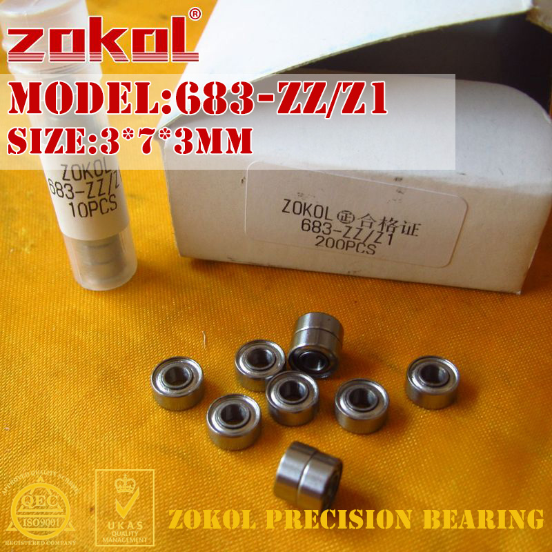 ZOKOL 683 ZZ 683zz Bearing 683 Z Z1 Miniature  Deep Groove Ball Bearing 3*7*3mm