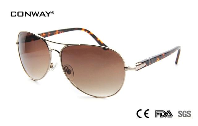 1e6010d4aa7da7 CONWAY vente chaude personnels lunettes lunettes de soleil femmes marque  designer rétro lunettes dames big métal