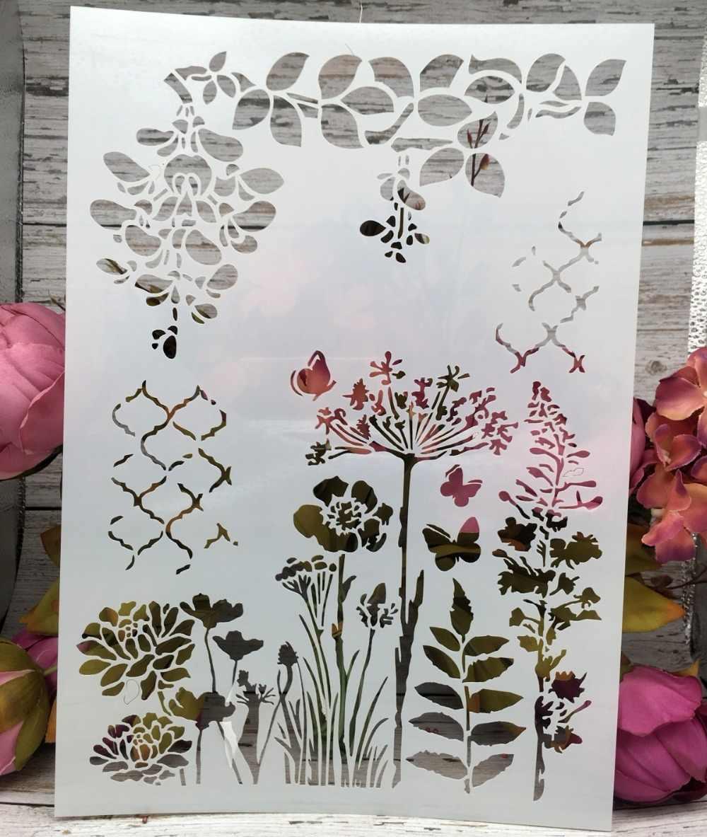 Трафарет декоративные цветы