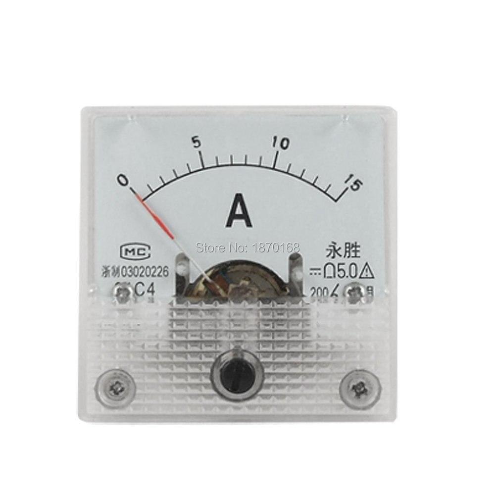 91C4 DC 5A 10A 15A 20A 30A 50A Аналоговый Амперметр Панель Амперметр измеритель тока Амперметр скидка