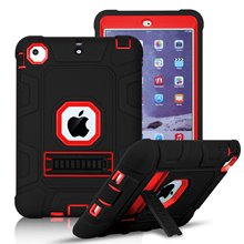 For iPad Air 2 Case , Heavy Duty Hybrid Three Layer Armor Defender Shockproof Kickstand Case Cover for iPad Air 2 iPad 6 Case цена в Москве и Питере