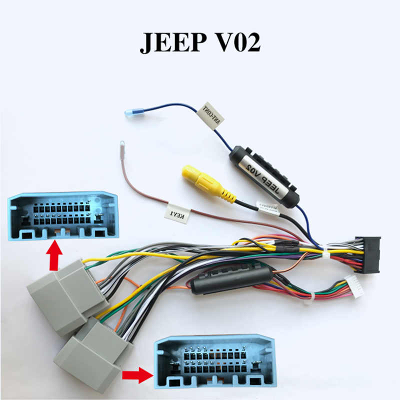 new hot special arkright wiring harness cable for jeep radio head unit  adaptor|cables, adapters & sockets| - aliexpress  aliexpress