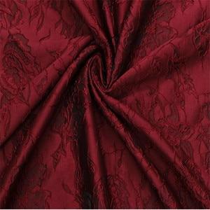 "Image 3 - 1Meter Wine Black  Jacquard Brocade Fabric Sewing On Clothing Dress Material Patchwork Diy ZAKKA Flower Fabrics  286G/M 53"""