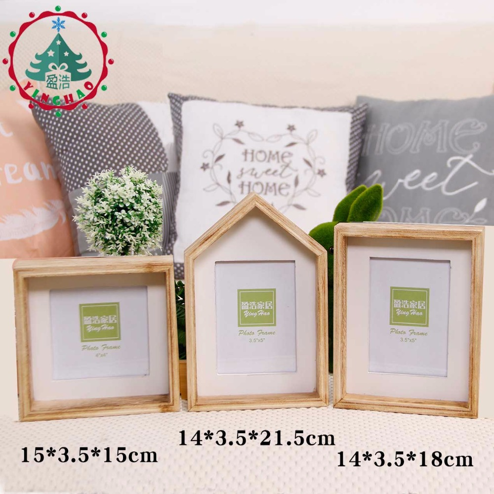 Inhoo Vintage Wooden Photo Frame Wall Pictures Frames For Paintings