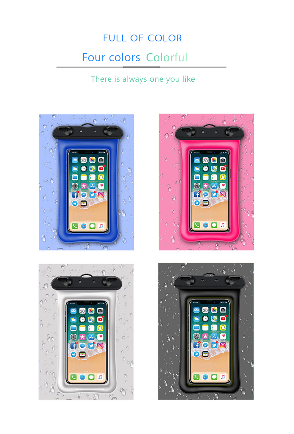 Universal Waterproof Bag 6 inches Pouch Phone Case For iPhone XS XR X 8 7 6 Plus Cover Cases For Samsung S8 S9 Note 8 (4)