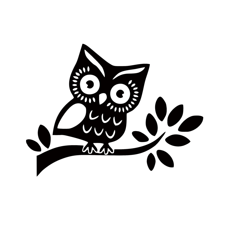 Hot Sale Car Stying Cute Owl Standing On A Tree Car Decal Cartoon Bumper Sticker Jdm ...