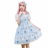 Sweet Lolita Jumper Skirt JSK Song of Star Fish Lolita Dress
