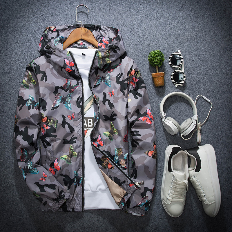 HTB15UHjatzvK1RkSnfoq6zMwVXav - Lusumily High Quality Women Windbreaker Jacket Spring Summer Camo Thin Female Camouflage Butterfly Windbreaker Coats Hooded