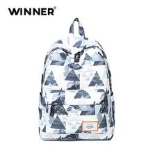 Победитель хлопчатобумажная ткань элегантный дизайн для девочек рюкзак печати школьная сумка женские и мужские рюкзаки рюкзак
