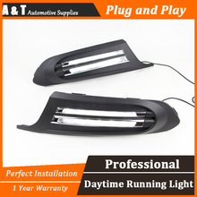 A&T car styling For VW Jetta LED DRL For Jetta High brightness guide LED DRL  led fog lamps daytime running light