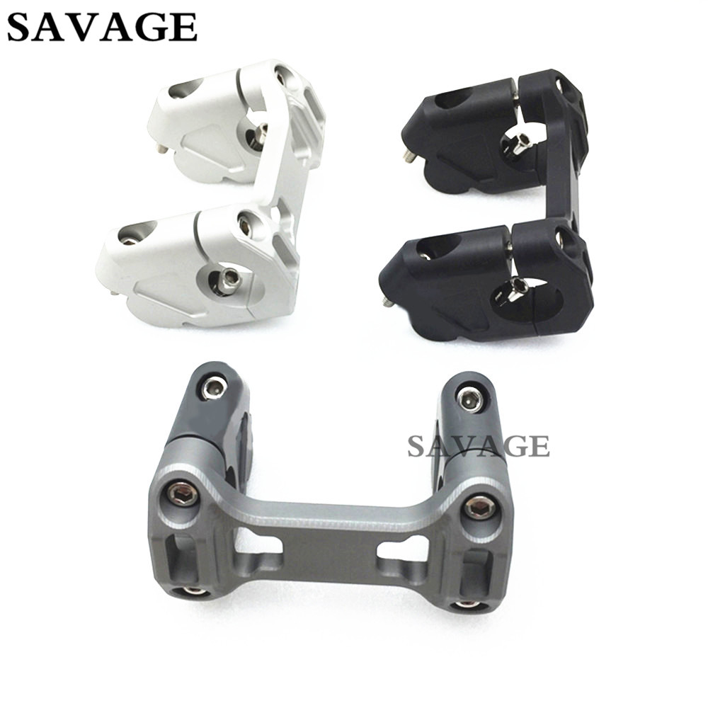 Motorcycle Couple Kit Handlebar Riser Handle Bar Clamp Extend Adapter For B M W R1200GS R1200 GS LC /ADV 2014 2015 2016 self tie waist frill trim pleated pants