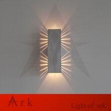 Ковчег свет 2*1 Вт современный Алюминиевый привело бра, Проход Спальня Коридор Крыльцо настенные светильники светодиодные ночь бра света этапа