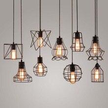 BOKT Retro Loft Industrial Iron Hanging Lights E27 110V 220V LED Black Pendant Lamps For Kitchen Living Room Aisle Restaurant