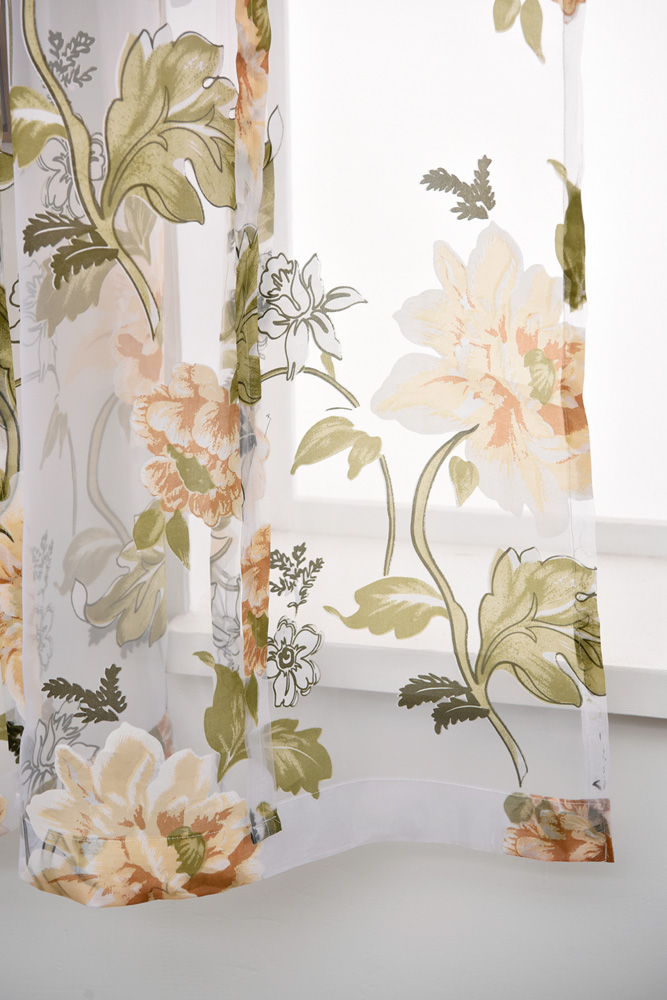 P.O.F Roman Curtain European style Living Room sheer tulle for living room