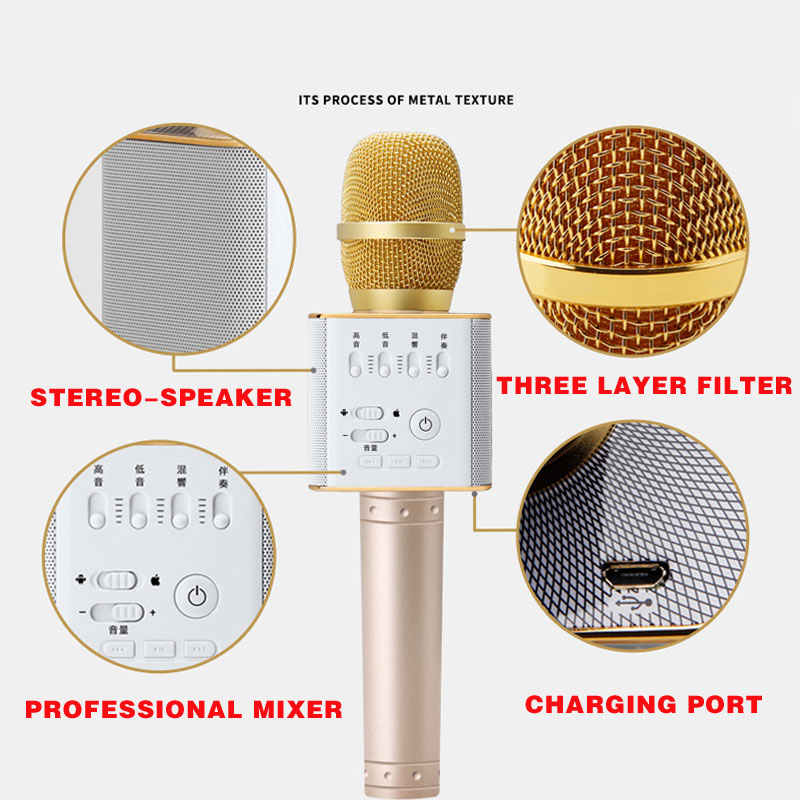 Original-brand-MicGeek-Q9-Bluetooth-Karaoke-Microphone-Wireless-Professional-Player-speaker-With-Carring-Case-For-Iphone